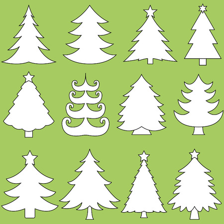 Collection of Christmas trees Illustration