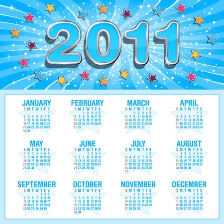 Stars calendar for 2011