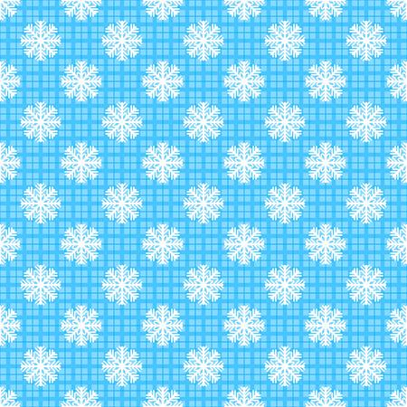 Seamless snowflakes pattern Illustration