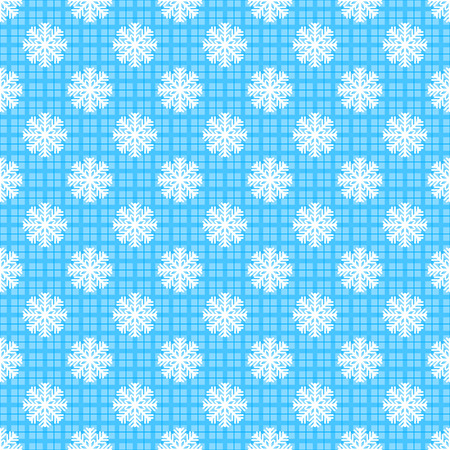 Seamless snowflakes pattern Illustration