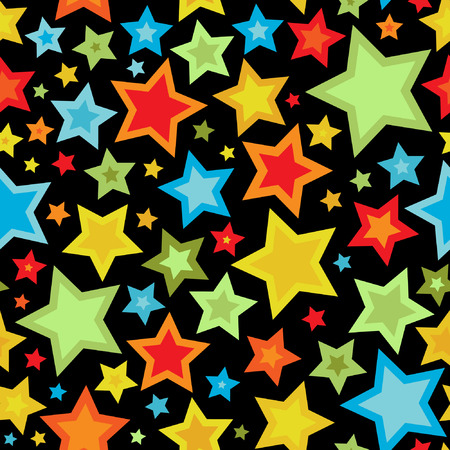 Colorful stars seamless pattern Stock Vector - 8360515