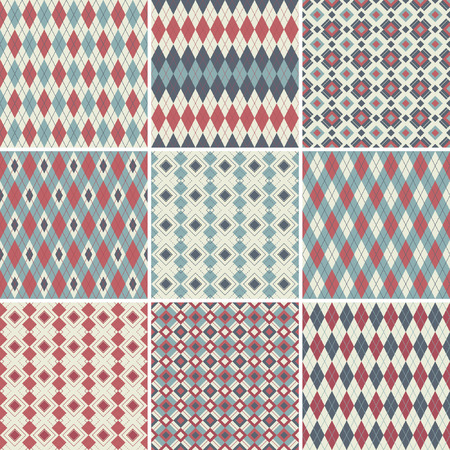 Seamless argyle patterns  Vector