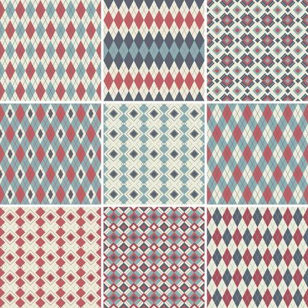 Seamless argyle patterns Stock Vector - 8414389