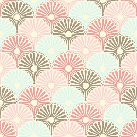 Seamless japanese vintage pattern  Vector