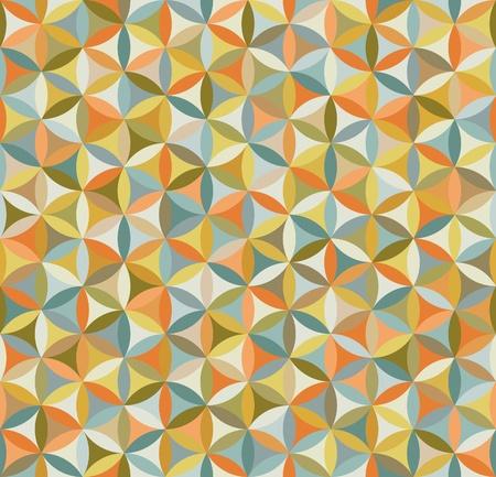 tegelwerk: Naadloze bloem van leven patroon in vintage kleuren Stock Illustratie