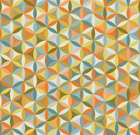 continuous: Seamless flower of life pattern in vintage colors Illustration