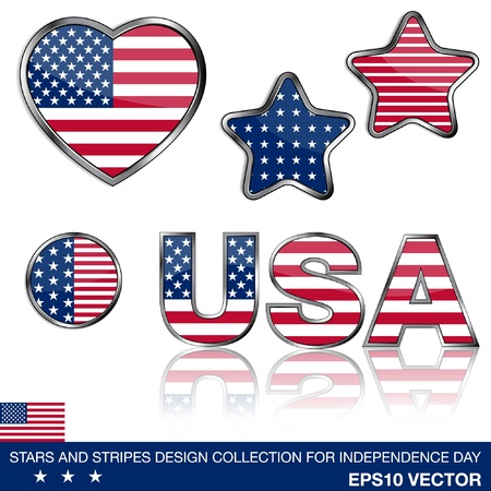 pin stripe: 4th of july design elements collection