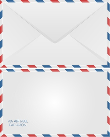 air mail: Airmail envelope