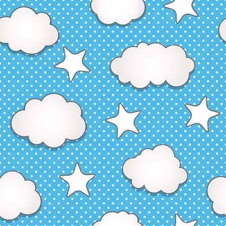 Clouds seamless pattern Vector