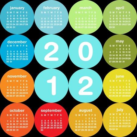 2012 circular calendar Stock Vector - 10990478
