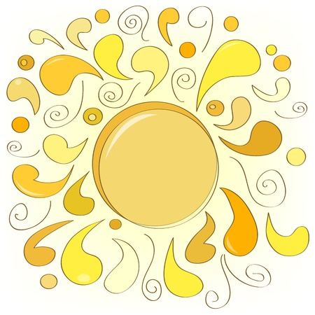 Abstract hand drawn sun Illustration