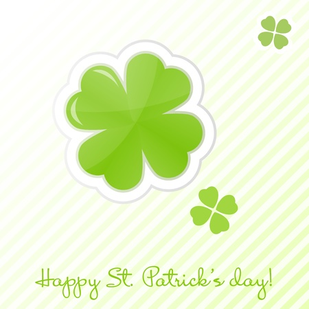 lucky clover: St Patrick s day card Illustration