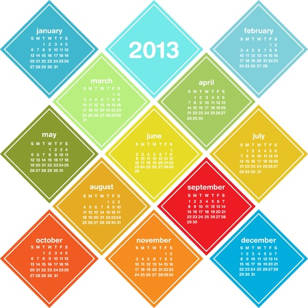 2013 colorful calendar Illustration