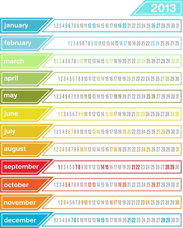 Calendar 2013 Illustration
