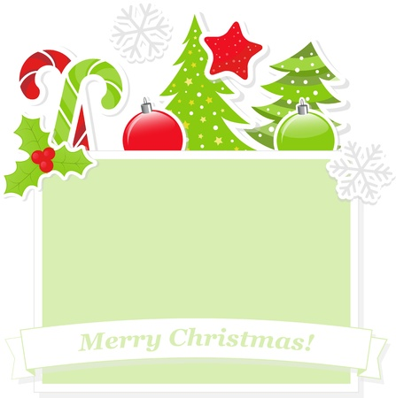 Cute Christmas banner Vector