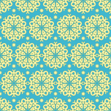 Gold and blue ornate seamless pattern Vector