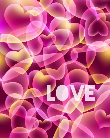 Abstract love background Vector