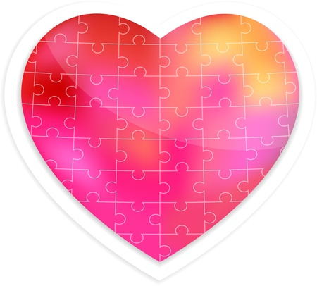 Puzzle heart illustration Vector