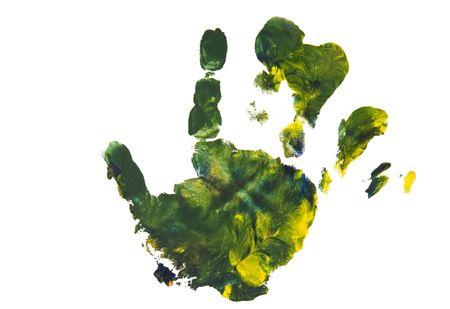 identidad cultural: Colorido handprint de un ni�o