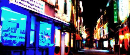 streetscene: colorful streetscene