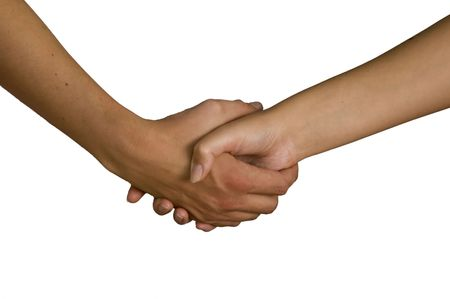tact: female and male holding hands