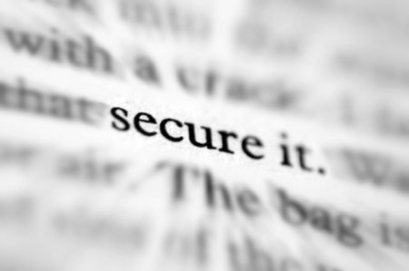 secure it Stock Photo