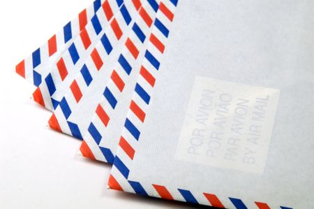 consign: airmail envelopes Stock Photo