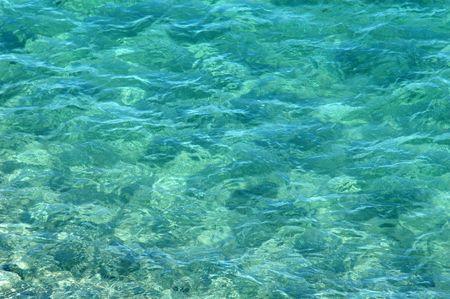 them: oceanripples with rocks beneath them Stock Photo