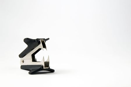 Staple Remover isolated on white background photo