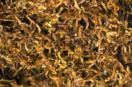 brand damage: close up of tabacco, used to roll cigarettes Stock Photo