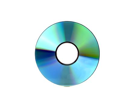 a compact disc, isolated on white background Stock Photo
