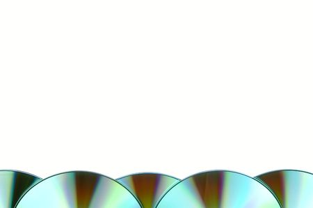 pieces of compact discs isolated on white background photo