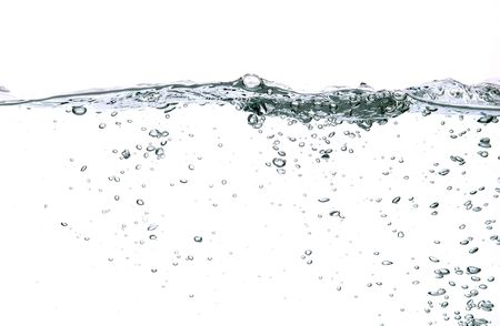 water bubbles isolated on white background