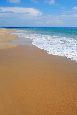 whitewash on tropical caribbean island photo