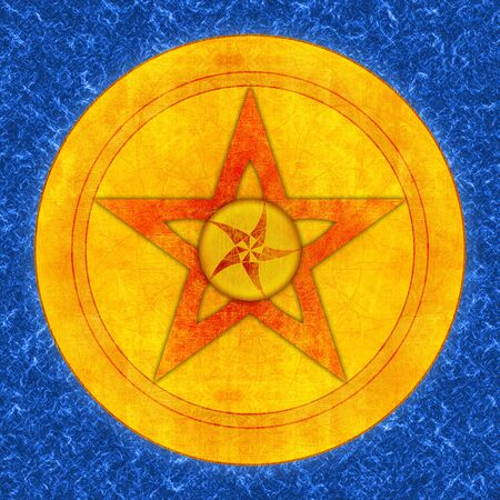 representation of a pentacle