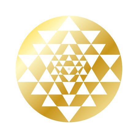 Sri Yantra, Sacred Geometry 版權商用圖片 - 127416623