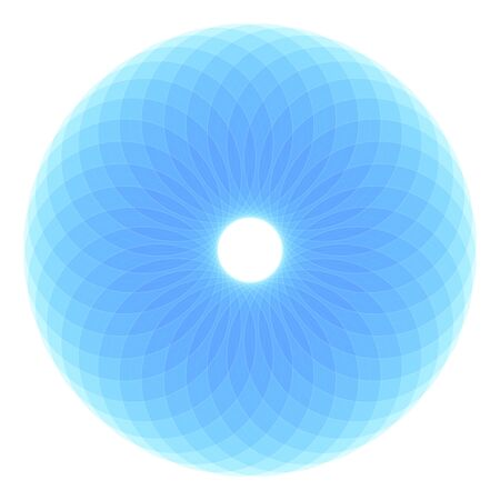 torus, sacred geometry, colorful Ilustrace