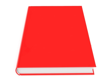 book jacket: Closed blank red book rendered with soft shadows on white background