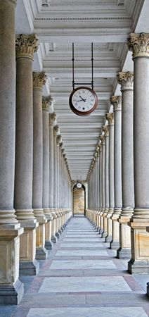 Classical columns and clock.