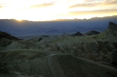 protectorate: Sun set over the mountains around Death Valley in Nevada Stock Photo