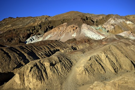 Desert landscape in geological formations of Death Valley National Park