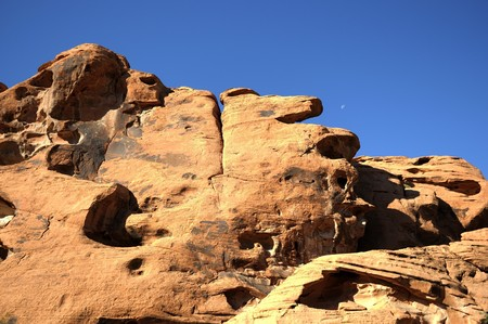 Desert rock formations on a sunny day in California