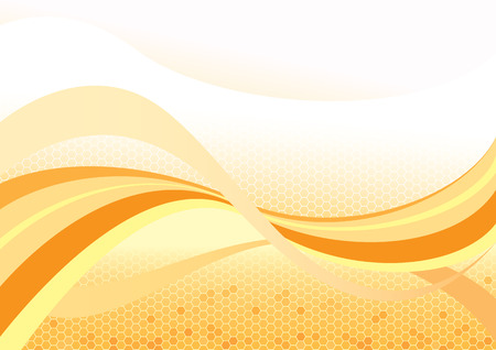 honeycombs: Abstract background from the curved lines, illustration