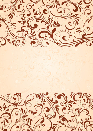 Decorative template for text, illustration