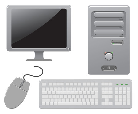 office automation: Components of the computer, illustration