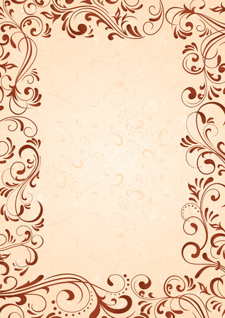 Decorative template for text, illustration Vector