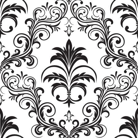 insulate: Seamless ornamental wallpaper, floral pattern, illustration