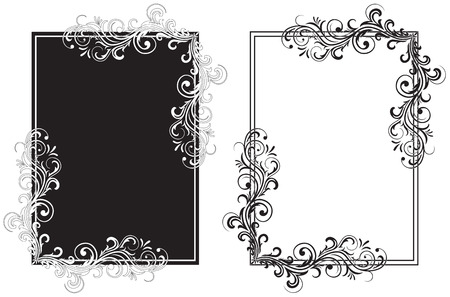 corner border: Decorative template grunge background, illustration