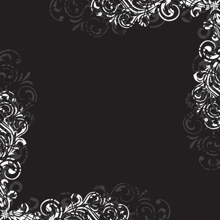 gothic revival: Decorative template grunge background, illustration