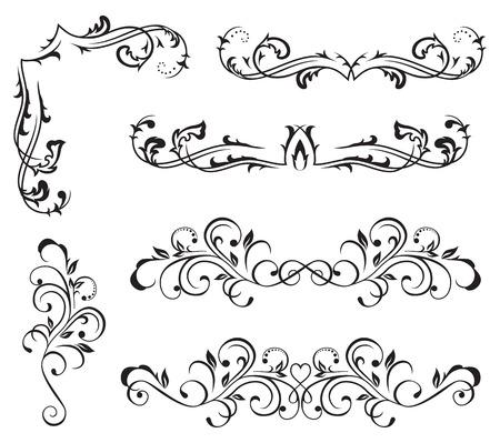revival: Ornate elements for decor, Illustration
